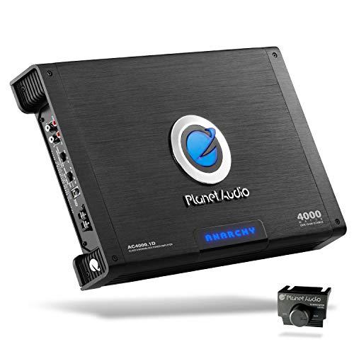 Planet Audio AC4000.1D Class D Car Amplifier - 4000 Watts, 1 Ohm Stable, Digital, Monoblock, Mosfet Power Supply