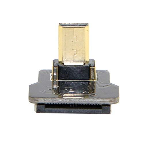 chenyang cyfpv Micro HDMI Tipo D macho hacia abajo en ángulo 90Degree para HDTV Multicopter FPV Fotografía Aérea