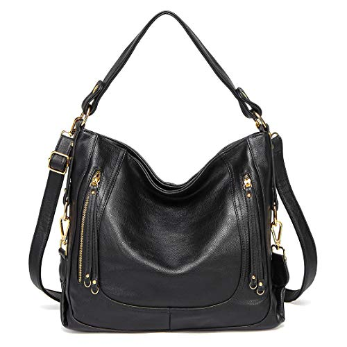 Kasgo Sac à Main Femme, Mode Cuir PU Sac Hobo Grand...