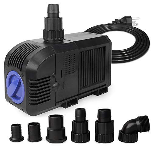 FREESEA 80W 1320GPH Submersible Water Pump for Aquarium, Pond Pool, Fountain, Hydroponics, Statuary (with Accessories)