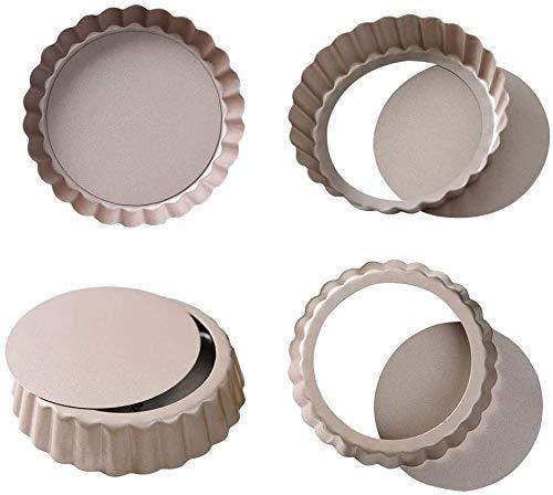 Tart Pan, 3.5 Inch Mini Quiche Pan Removable Bottom Non-Stick Tin,...