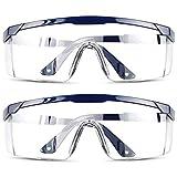 DJM 4.0 安全ゴーグル メガネ 透明 傷防止 ラップアラウンドレンズ サイドシールド 滑り止めグリップ UV保護 曇り止め 耐衝撃 調節可能 メガネ