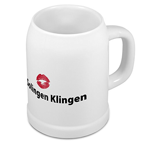 digital print Bierkrug mit Stadtnamen Solingen Klingen - Design Kussm& - Städte-Tasse, Becher, Maßkrug