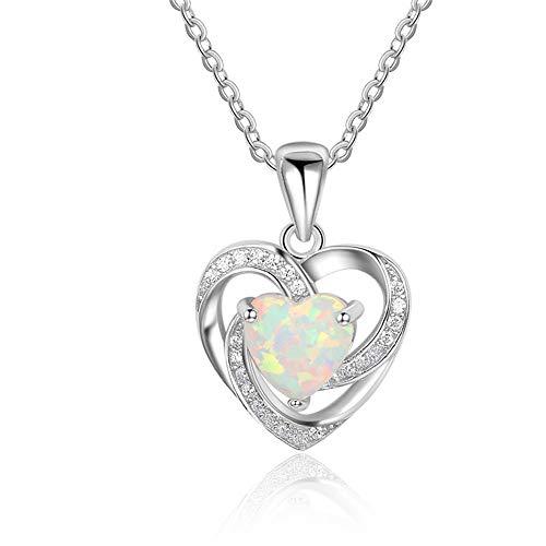 S925 Sterling Zilveren Hartvormige Ketting Liefde Diamant Gepersonaliseerde Wilde Meiden Ketting Sieraden Geschikt Voor Geschenken Aan Vrienden En Familieleden