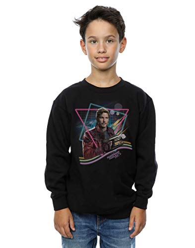 Marvel Jungen Guardians of The Galaxy Neon Star Lord Sweatshirt 7-8 Years Schwarz