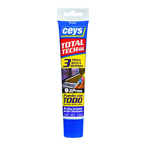 ceys CE507242 TOTAL TECH TRANSPARENTE TUBO 125ML, 0 W, 0 V, Azul