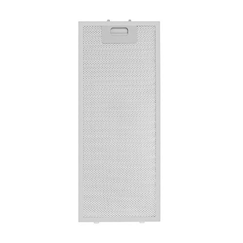 Klarstein Aluminium-Fettfilter - Ersatzfilter, Austausch-Fettfilter, Aluminium, Zubehör, 2er-Set, leichtgängiger Klickverschluss, ca. 20 x 48,5 cm (BxH), für Vinea Dunstabzugshauben, weiß