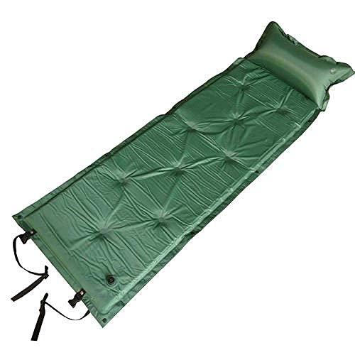 DHTOMC Colchón de Camping al Aire Libre Estera con la Almohadilla del Aire el Viaje de Camping Manta cojín En Tienda Camas de Aire Mats Cama Plegable-Camuflaje 2,5 cm (Color: Verde 5 cm) Xping