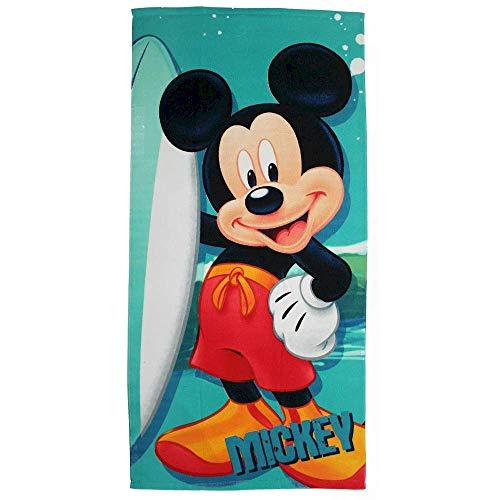 Generico Telo Mare Mickey Mouse Disney Topolino Asciugamano in MICROCOTONE CM. 140X70 100%PL - MIC2022-0705