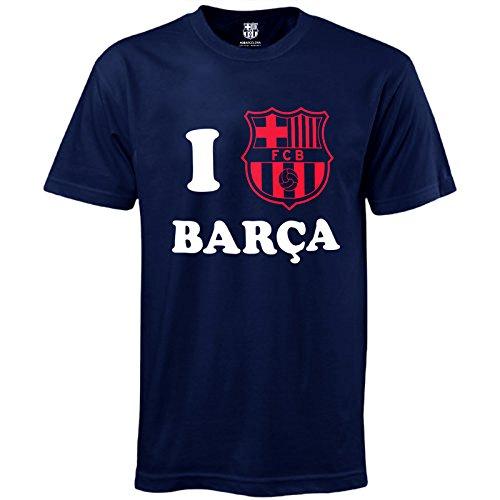 "Offizielles Herren-Fußballshirt ""I Love Barca"" des FC Barcelona xl marineblau"