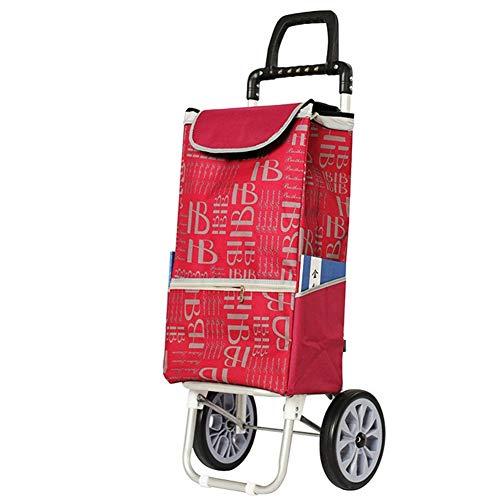 Carro De La Compra Plegable 2 Ruedas Aleación De Aluminio Doble Asa Carro Compra Con Bolsa Desmontable Fuerte Y Estable 35L
