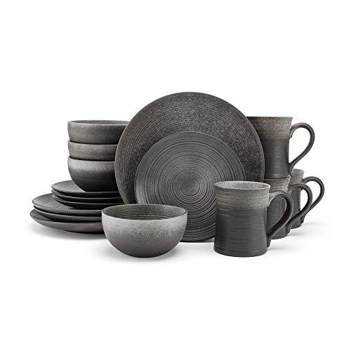 Mikasa Tanner 16-Piece Dinnerware Set Service for Four 4 Brown