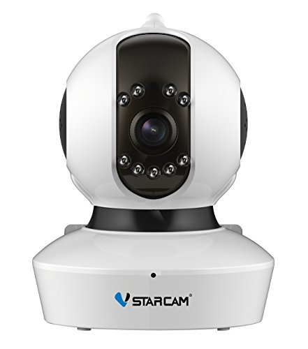 VStarcam C7823WIP HD 1.0MegaPixel Wireless P2P (720P Plug and Play) IR-Cut Night Vision with 2 Way Audio Remote Control 3.6MM Lens WiFi IR-Cut Up To 10M PnP Indoor Wifi IP Camera,Free DNNS UID Technology WPS One Key Setup WiFi Wireless/Wired Surveillance Webcam Alarm Detection Support 4 Visitors Viewing At The Same Time