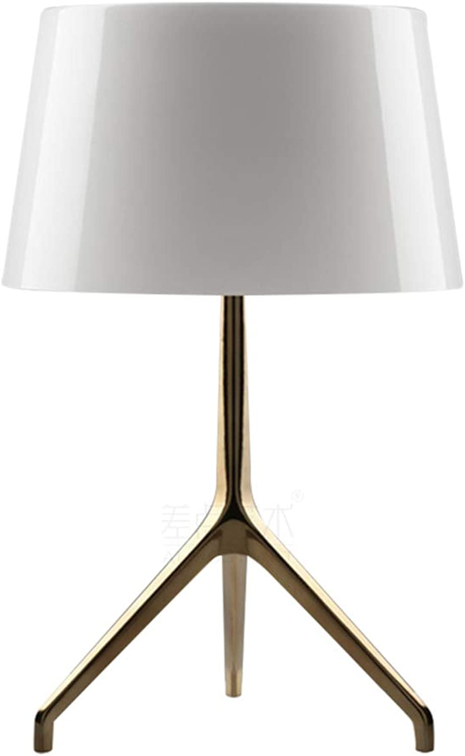 Noble.store Table Lamp Simple gold Hardware Art Desk Lamp Creative Stainless Steel Table Lamp Triangle Study Room Reading Lamp Desk -4628 Table lamp