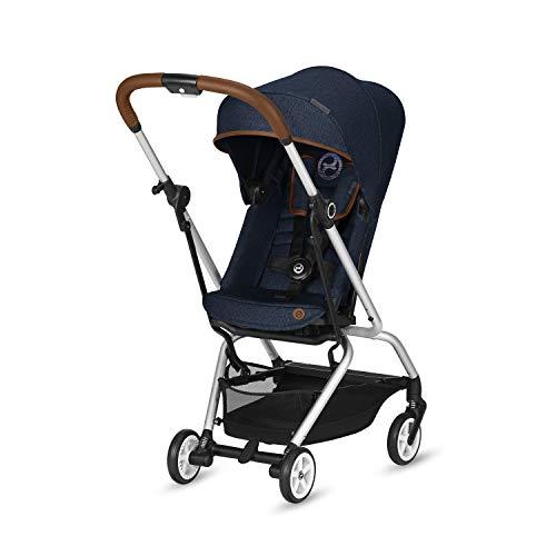 CYBEX Gold CYBEX Gold Silla de paseo Eezy S Twist, asiento giratorio 360°, compacta y ligera, desde el nacimiento hasta 17 kg (aprox. 4 años), colección Denim, Denim Blue