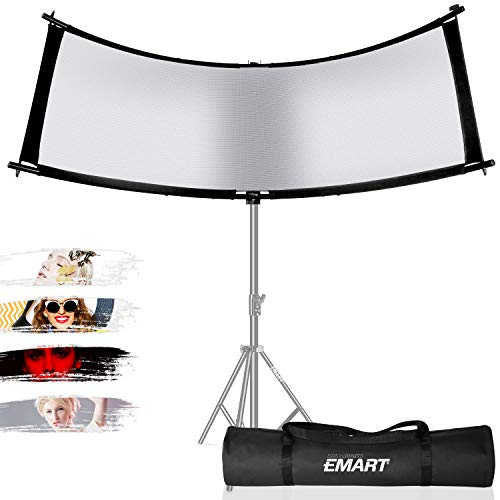 EMART 66x24 Inch Photo Studio Light Reflector/Diffuser with Carrying Bag, 4-in-1 Clamshell Light Reflector for Photography Portrait Lighting Filming Shooting, Black/White/Gold/Silver