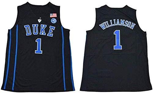 Yo Canottiera NBA Zion Williamson Duke Duke in Jersey Ricamato Blu E Nero,A-L