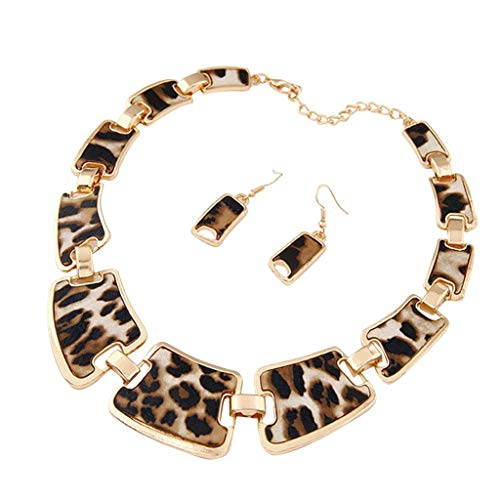 Necklaces for Women Fashion Gold Tone Style Leopard Grain Necklace Collar Bib for Women Best Friend Birthday Gifts