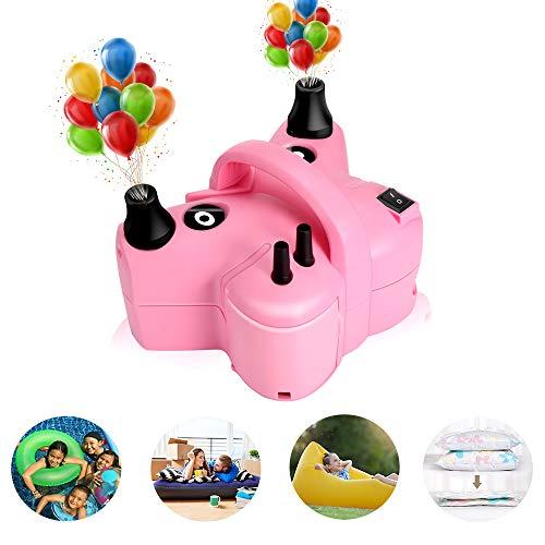 Awroutdoor Elektrische Luftballonpumpe,Ballonpumpe mit automatik & halbautomatisch Modi und 600W Tragbare Ballone Pumpe für Party, Hochzeit, Geburtstag und Festivaldekoration