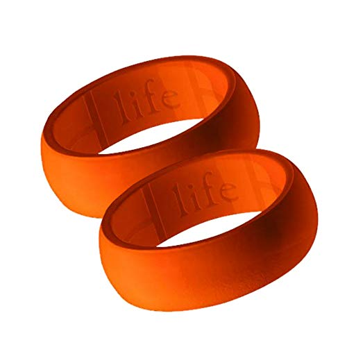 Silicone Wedding Ring for Men - Breathable Mens Rubber Wedding Bands...