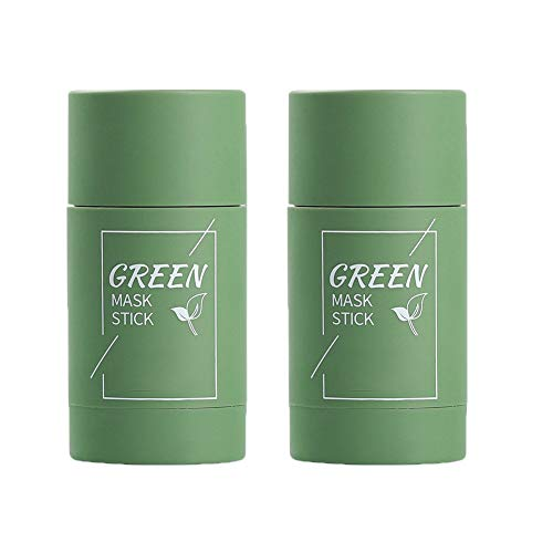 Green Tea Face Solid Mask Stick Remove Acne Blackhead Nose Deep Cleaning Pore, Hydrating Blackhead Remover Facial Mask Repair and Shrink Pores