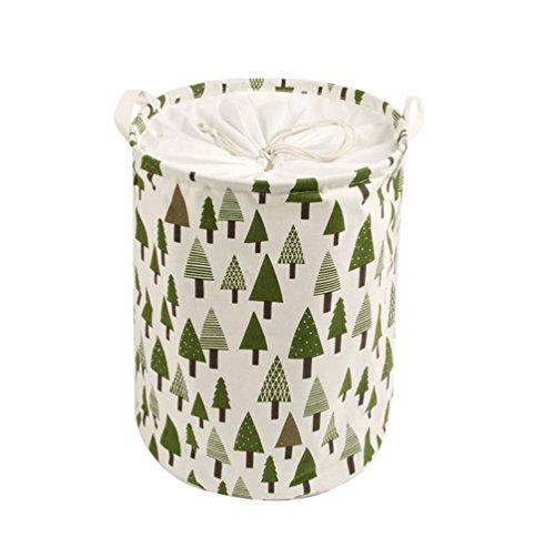 Cesto de ropa sucia para niños con diseño de bosque
