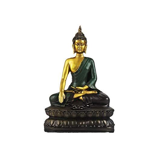 LXLH Escultura de Estatua de Buda Zen Adornos pequeños, nuevos Adornos Zen Chinos Liberan la Estatua de Buda Gamuni Sala de Estar Gabinete de Vino para Colocar Decoraciones de Tienda de Oficina