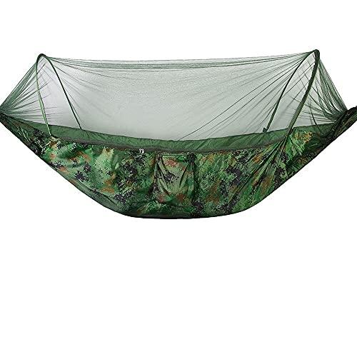 ZBF Hamaca de Camping al Aire Libre con mosquitera 250 * 120 cm 1-2 Persona para paracaídas Jardín Swing Silla Colgante Doble Cama para Dormir (Color : Style 1)