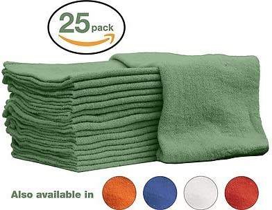 Auto Mechanic Shop towels Rags by Nabob Wipers 100 Cotton Commercial Grade Perfect for your product image