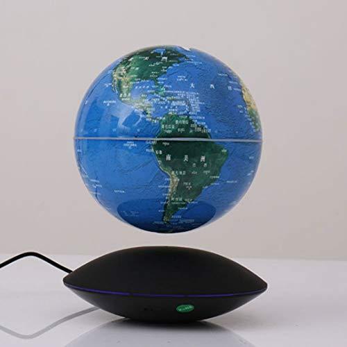 HXXBY Magnetic Schwebender Globus mit LED-Leuchten, Magnetschwebetechnik-Auto-Rotating Educational Globe Weltkarte, kreatives Haus/Büro-Schreibtisch-Dekoration, Geburtstag/Business Büro-Geschenk f