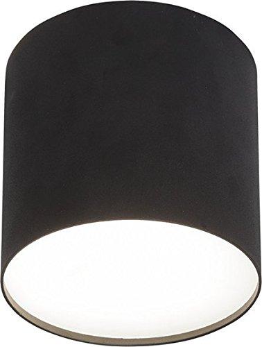 SET: 5W LED Aufbauspot 1x GU10, LED Schwenkbar Deckenaufbauleuchte, Downlight Deckenleuchte Rund Ø130mm Schwarz, Warmweiss mit Plexi Abdeckung (Schwarz)