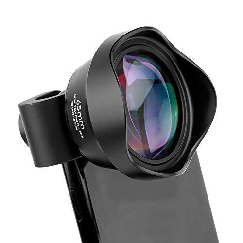 Professionelles Objektiv, 2 x Makrowinkel-Kameraobjektiv mit Silikonhülle und Objektivhalter für die meisten Smartphones