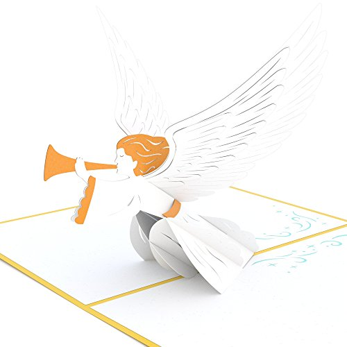 Lovepop Christmas Angel Pop Up Card - 3D Card, Christmas Pop Up Card, Religious Christmas Card, Angel Greeting Card, Holiday Greeting Card