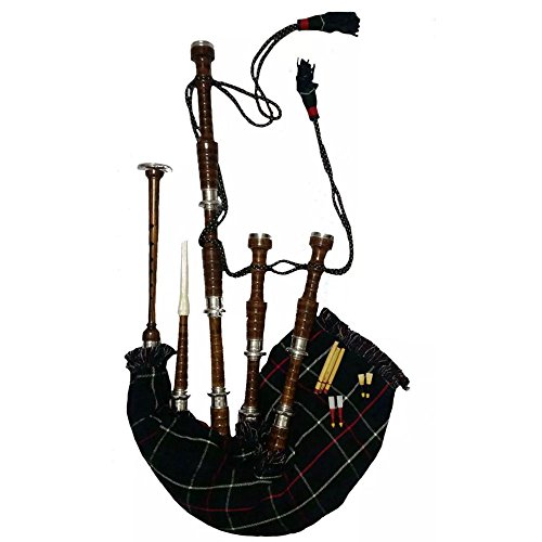 TC Scottish Great Highland Bagpipe, Rosenholz, komplettes Set/Dudelsack, Gaita und Tüten