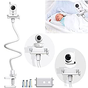 Soporte para Cámara de Vigilabebes Soporte Universal con Palo Flexible para Fijar la Cámara de bebé,soporte de cámara flexible para la habitación de los niños, compatible con la mayoría de vigilabebés
