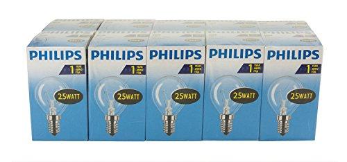 Philips 30600015 Glühlampe Tropfenform, 25 Watt, E14, klar, 10er