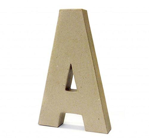 Papier Paper Mache Large Letters 20.5cm - Cardboard Craft (A)