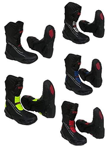 XTRM Motorradstiefel Evo für Erwachsene, Halbsportstiefel, strapazierfähig, für Roller, Fahrrad, Reiten, auf der Straße, Schwarz , EU 44/ UK 10