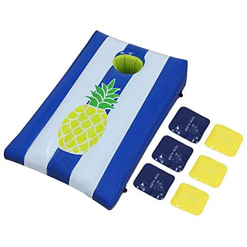 Bean Bag Toss Game Set, draagbare lichtgewicht PVC opblaasbare populaire Cornhole Game Set met 6 zitzakken voor kinderen Outdoor Indoor Games