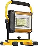 MFLASMF Wiederaufladbare kabellose LED-Arbeitsleuchte Tragbare Flutlichter LED 100W Flutlicht 8000...