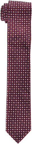 Tommy Hilfiger Men's Core Neat II Tie, burgundy, Slim