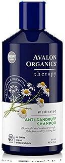 Avalon Organics Therapeutic Hair Care Medicated Anti-Dandruff Shampoo 14 fl. oz. Shampoos (a) - 2pc