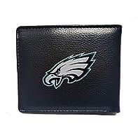 Any Any NFL Philadelphia Eagles Leather Billfold Wallet for Men,Men's Thin Sleek Casual Bifold Wallet with 6 Credit Card Pockets for NFL Philadelphia Eagles Fans