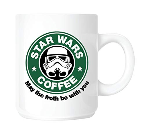 Generic KINGAM/Star Wars May The Froth Be with You Taza de cerámica de 11 onzas