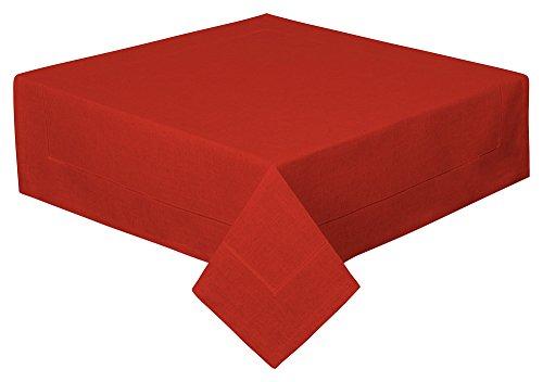 Schwar Textilien Tischdecke Decke Fleckschutz Leinenstruktur in 2 Größen und 11 Farben (rost, 100 x 100cm)