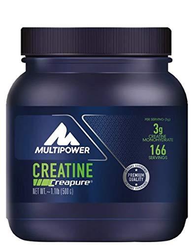 Multipower Creatine Powder - Integratore Alimentare in Polvere- Creatina Monoidrato Pura al 100% in Polvere - Per Aumentare le Prestazioni - Aiuta lo sviluppo Muscolare - Senza Aspartame - 500 g