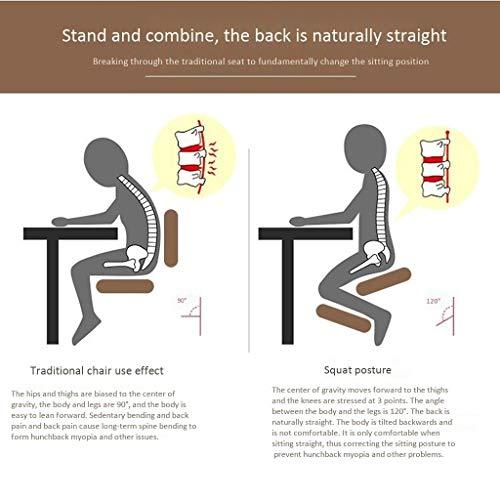 Kneelstoel QIQIDEDIAN Ergonomische bureaustoel Ergonomisch bevorderen goede houding met rugleuning en stoelwiel verstelbare hoogte QIQIDEDIAN