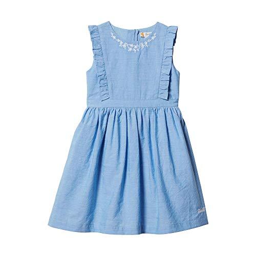 Steiff Mädchen Kleid, Blau (Eventide 6021), 104
