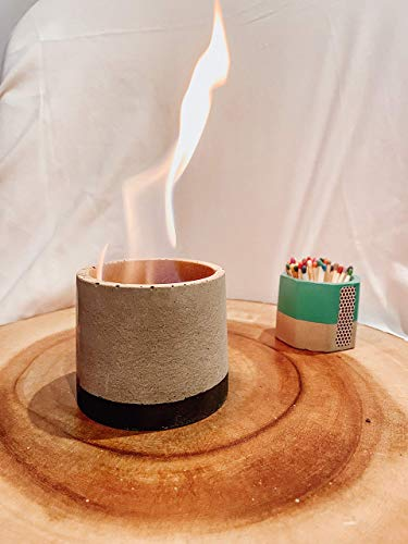 4oz Concrete Fire Bowl | Personal Smokeless Fire Pit | Indoor| Outdoor | Tabletop | Industrial | Minimalist