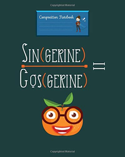 Notebook: sin cos tan equation math fruit cool funny gift - for men woman Journal/Notebook Blank Lined Ruled 100 pages 8x10 inches